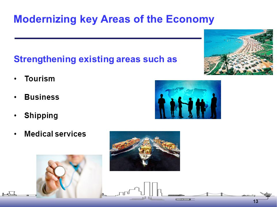 Modernizing key Areas of the Economy