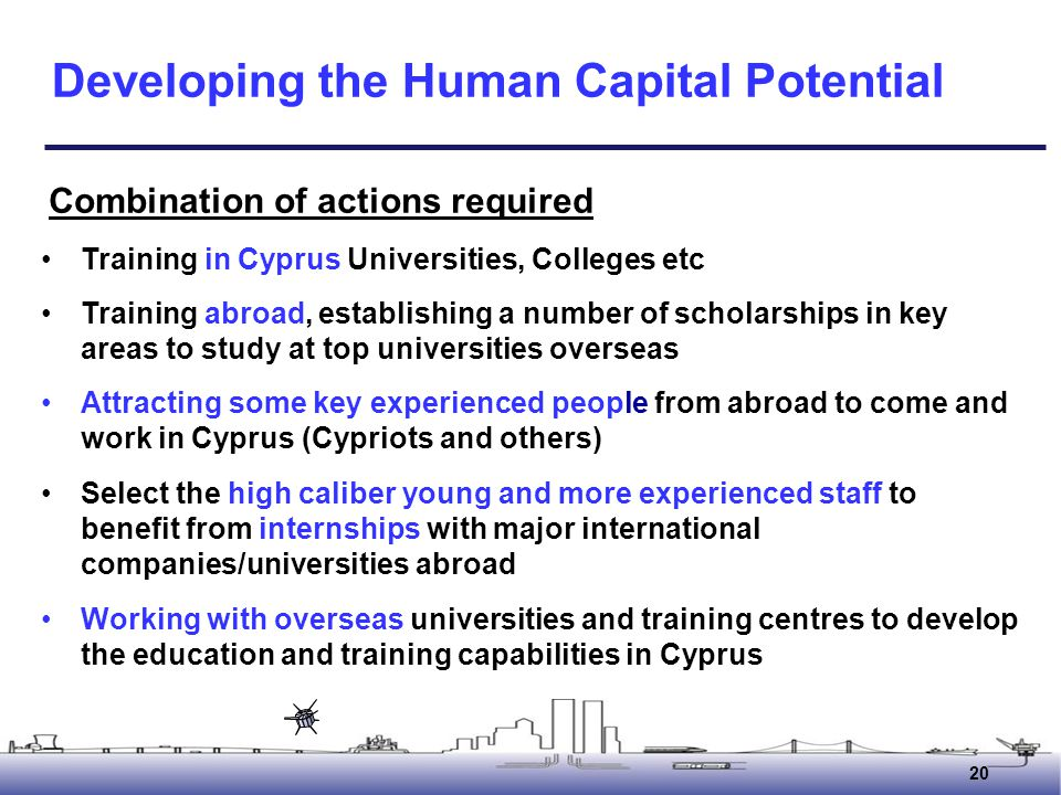 Developing the Human Capital Potential