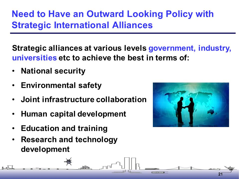 Need to Have an Outward Looking Policy with Strategic International Alliances