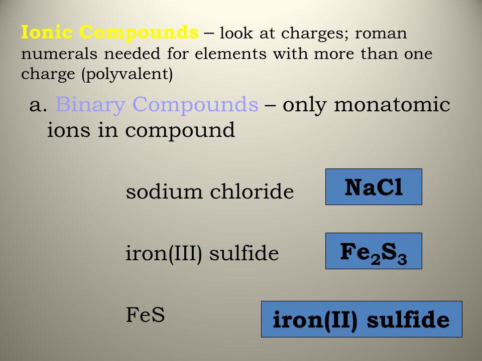 NaCl Fe2S3 iron(II) sulfide