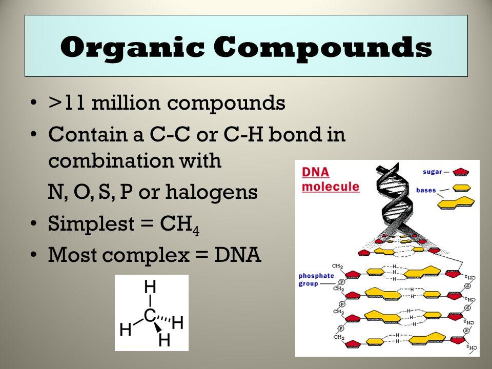 Organic Compounds >11 million compounds