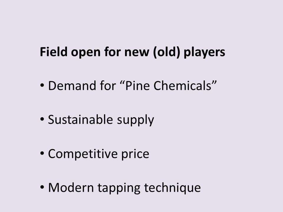 Field open for new (old) players