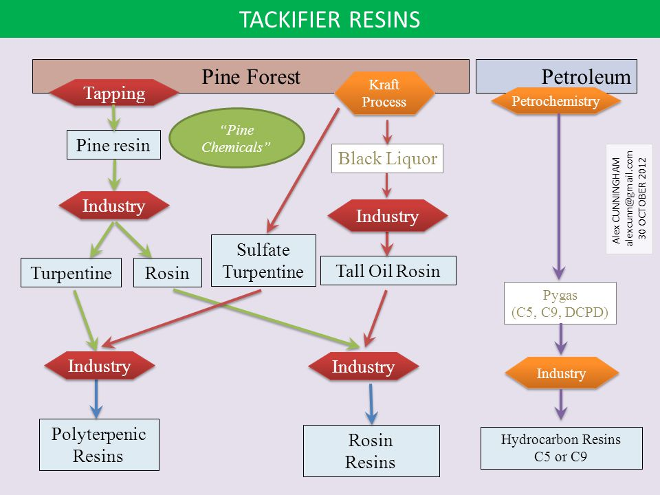 TACKIFIER RESINS Pine Forest Petroleum Tapping Pine resin Black Liquor