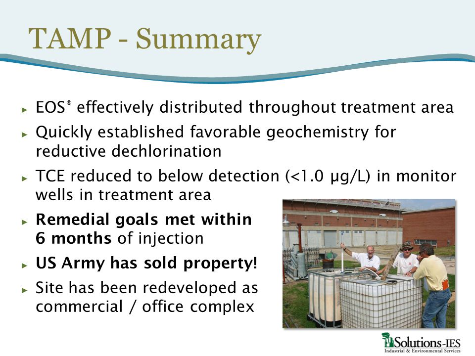 TAMP - Summary EOS® effectively distributed throughout treatment area