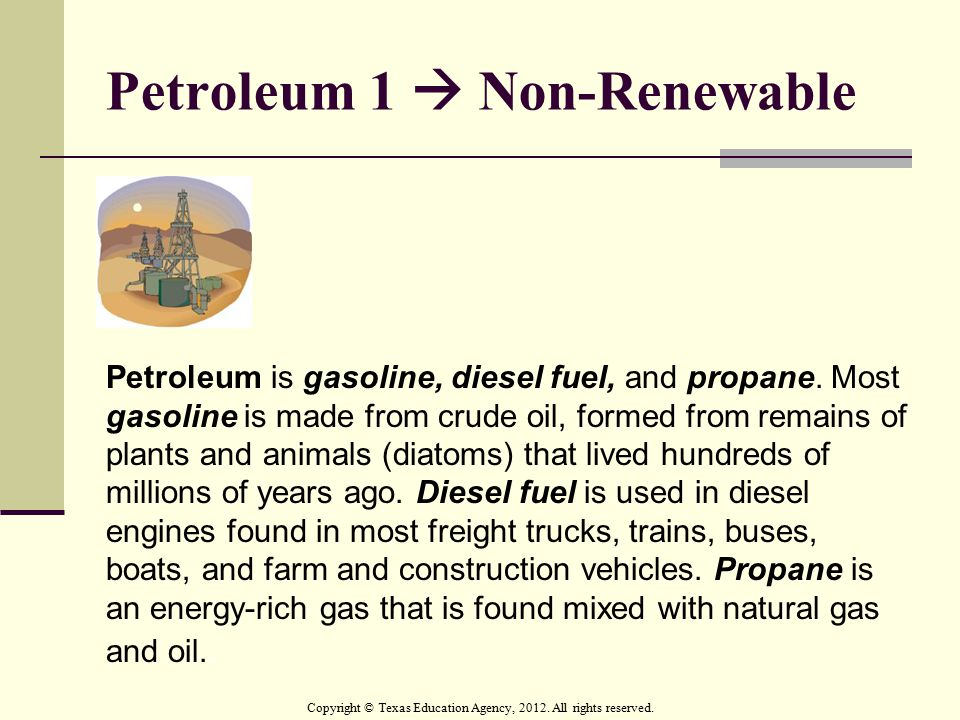Petroleum 1  Non-Renewable