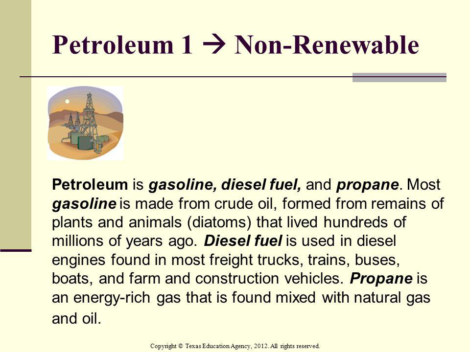 Petroleum 1  Non-Renewable