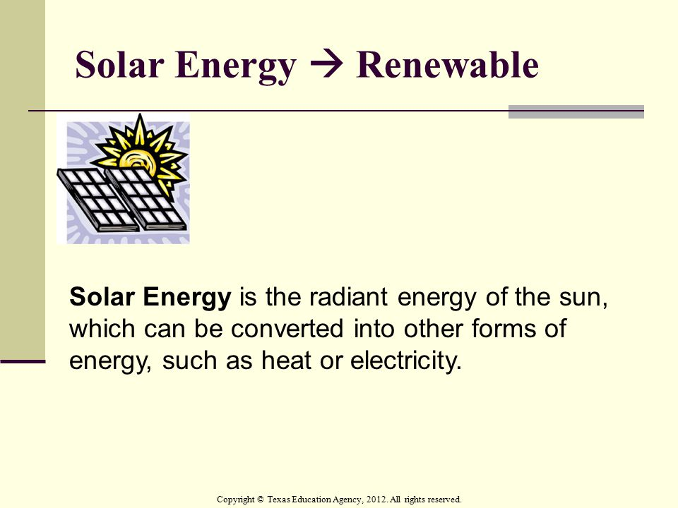 Solar Energy  Renewable