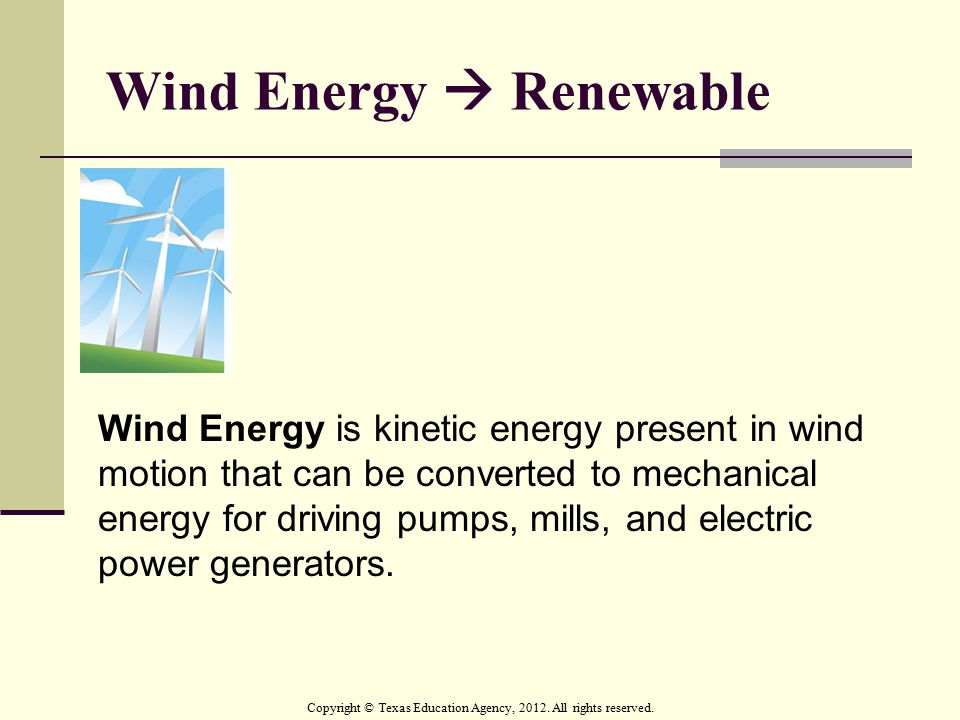 Wind Energy  Renewable
