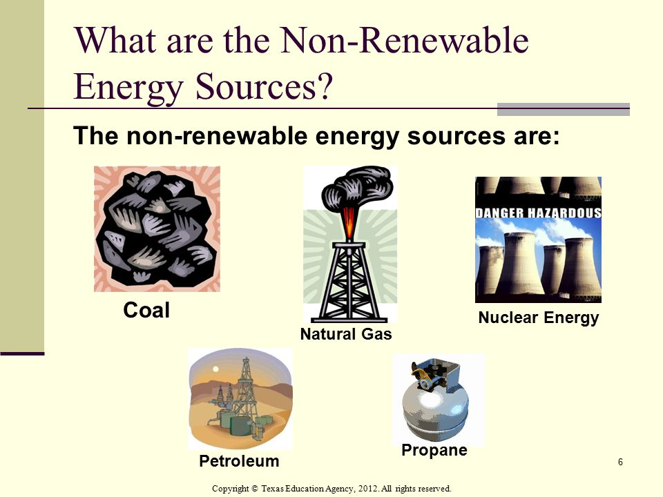 What are the Non-Renewable Energy Sources