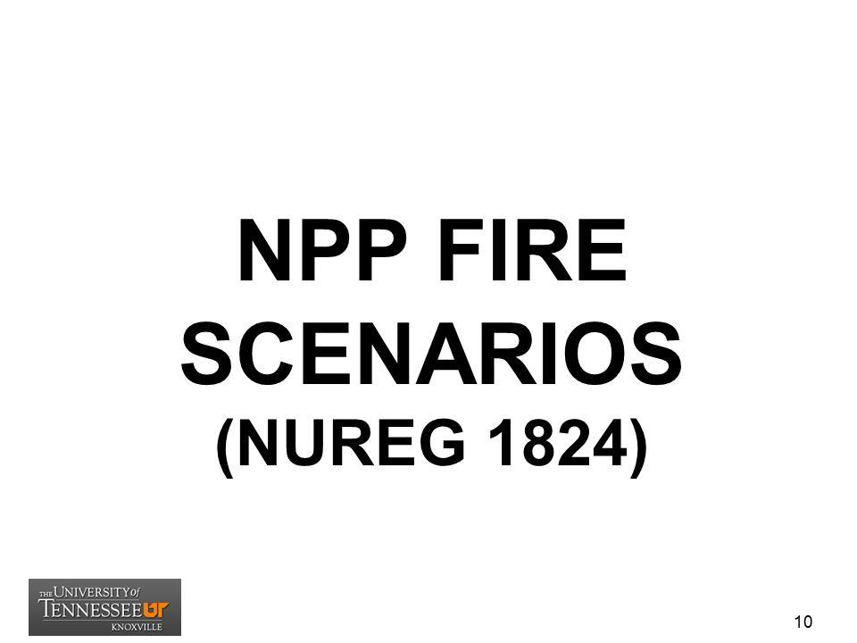 NPP FIRE SCENARIOS (NUREG 1824)