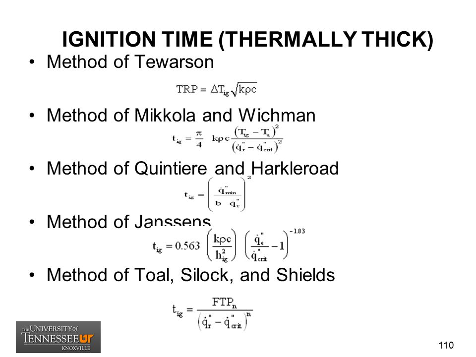 IGNITION TIME (THERMALLY THICK)