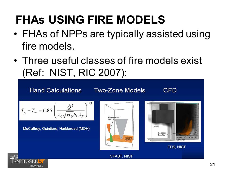 FHAs USING FIRE MODELS FHAs of NPPs are typically assisted using fire models.