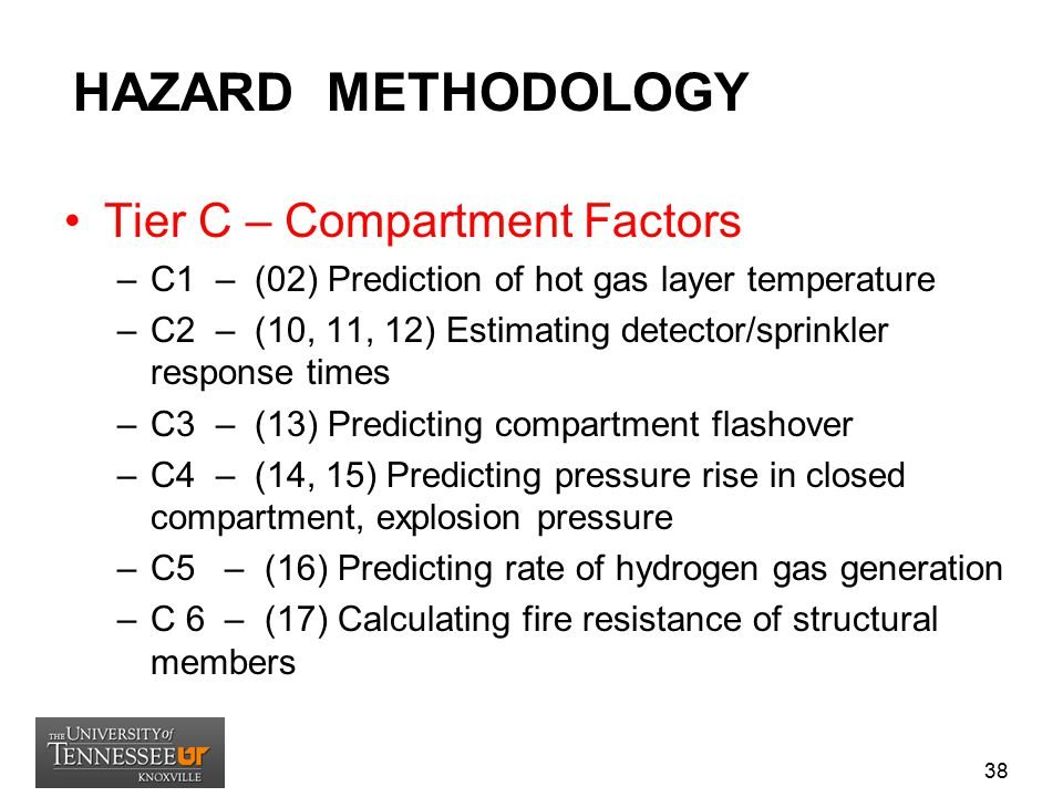 HAZARD METHODOLOGY Tier C – Compartment Factors