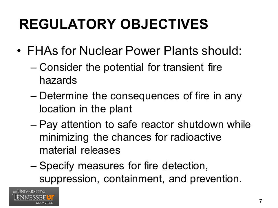 REGULATORY OBJECTIVES