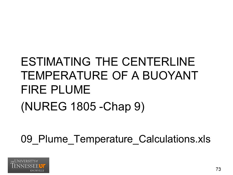 ESTIMATING THE CENTERLINE TEMPERATURE OF A BUOYANT FIRE PLUME