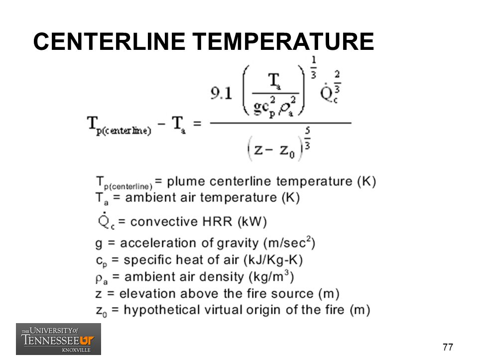 CENTERLINE TEMPERATURE