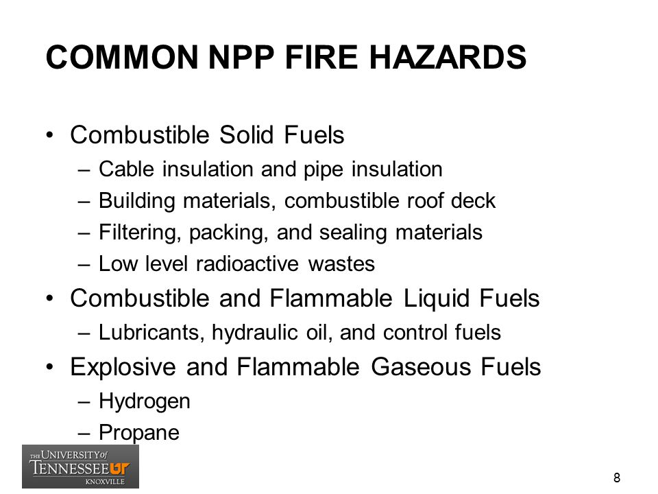 COMMON NPP FIRE HAZARDS