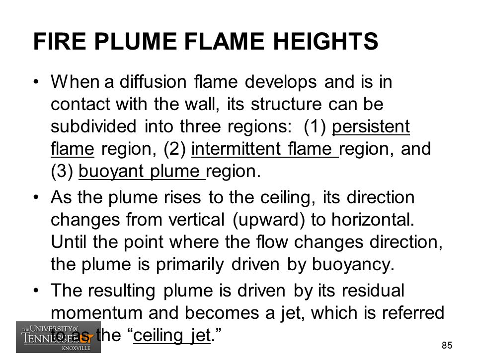FIRE PLUME FLAME HEIGHTS