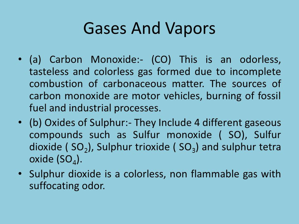 Gases And Vapors