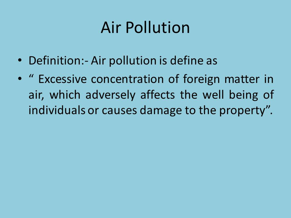 Air Pollution Unit ppt download