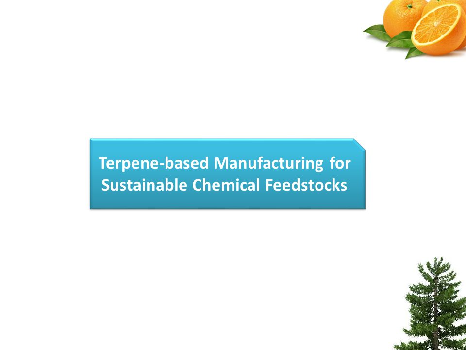 Terpene-based Manufacturing for Sustainable Chemical Feedstocks
