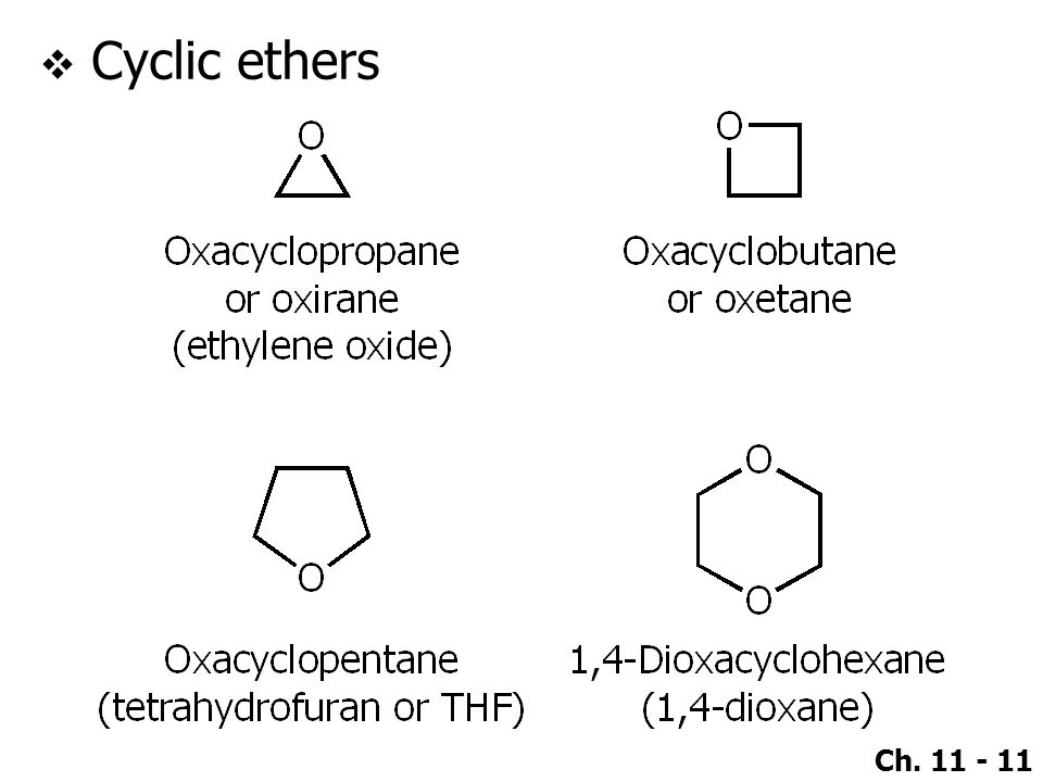 Cyclic ethers