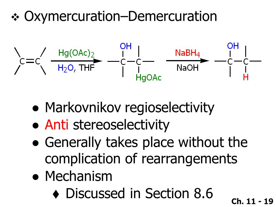 Oxymercuration–Demercuration