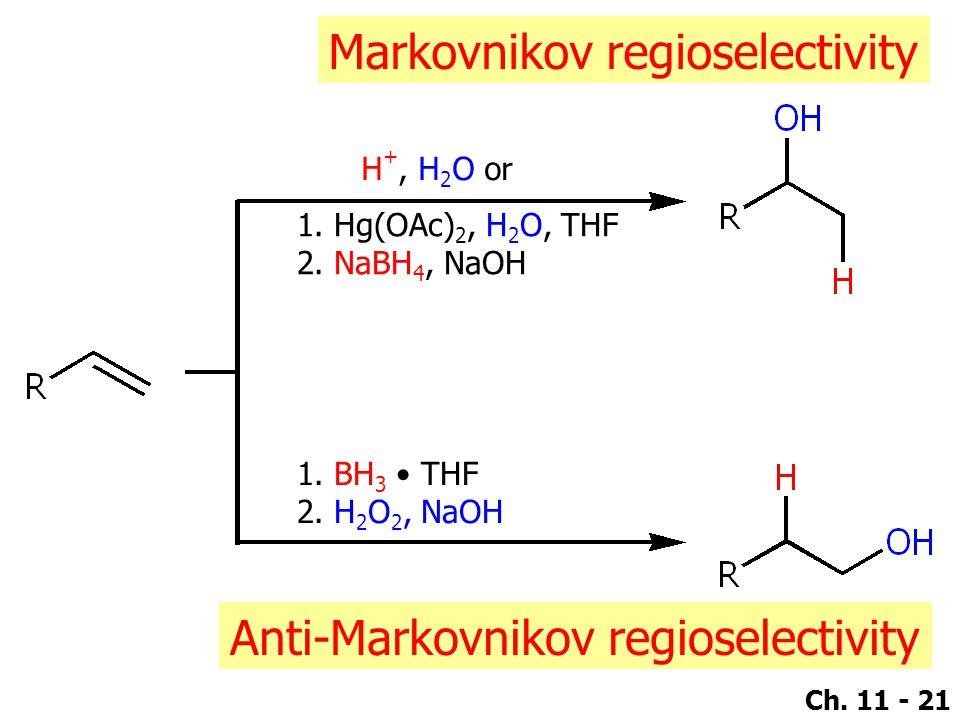 Markovnikov regioselectivity