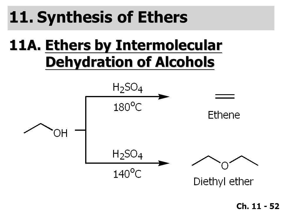 Synthesis of Ethers 11A. Ethers by Intermolecular Dehydration of Alcohols