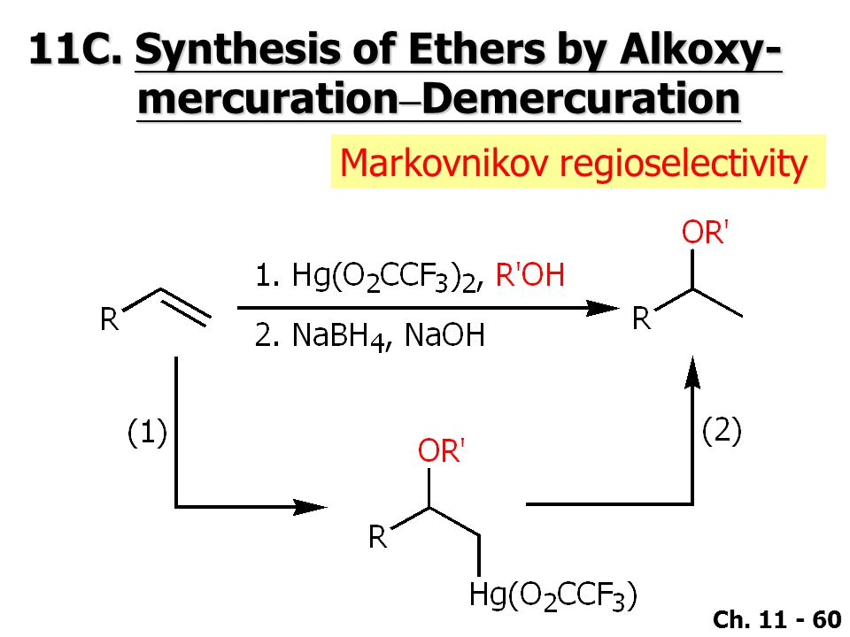 11C. Synthesis of Ethers by Alkoxy- mercuration–Demercuration