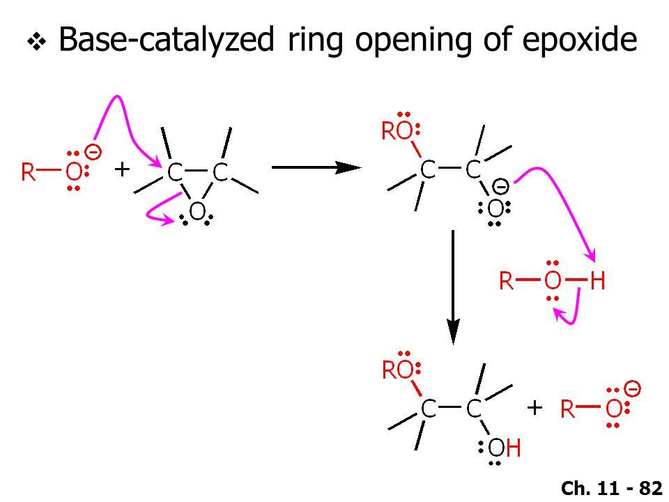 Base-catalyzed ring opening of epoxide