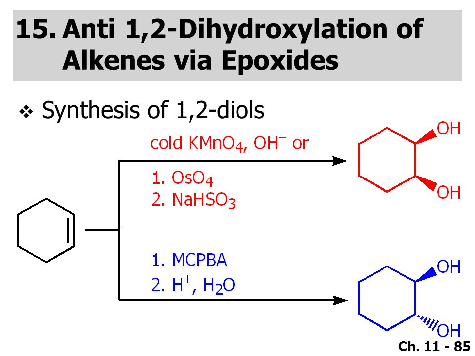 Anti 1,2-Dihydroxylation of Alkenes via Epoxides