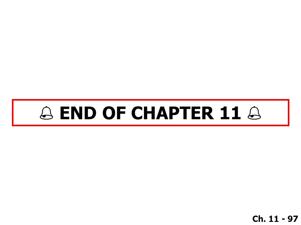  END OF CHAPTER 11 