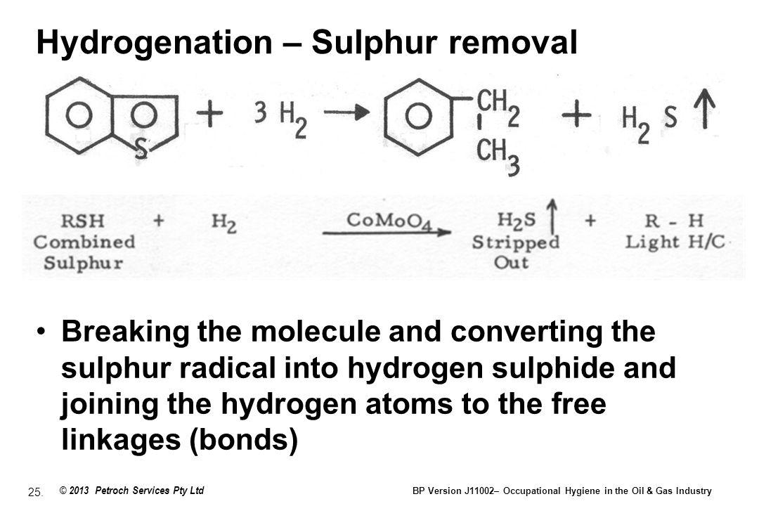 Hydrogenation – Sulphur removal