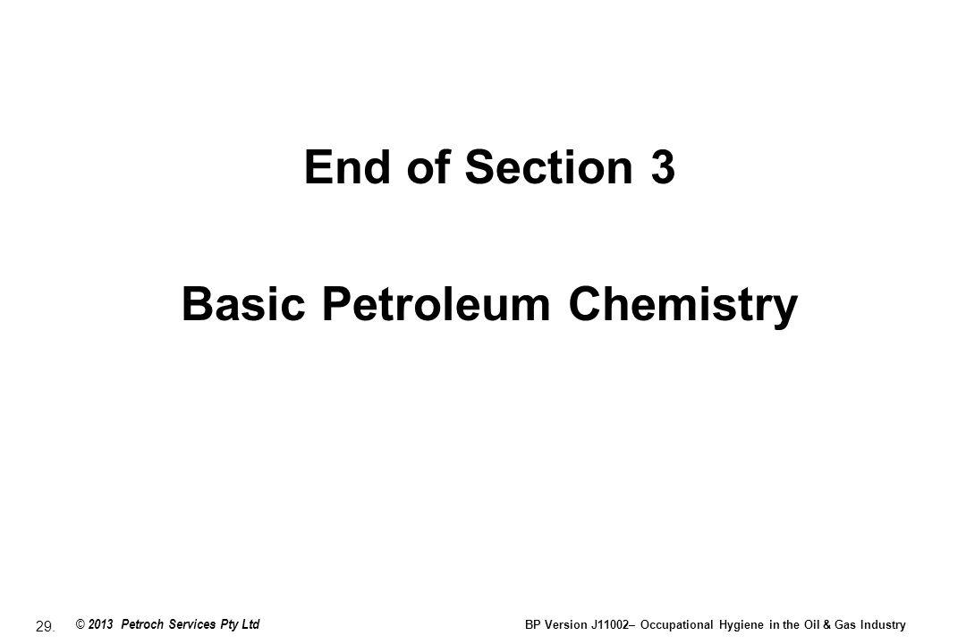 Basic Petroleum Chemistry
