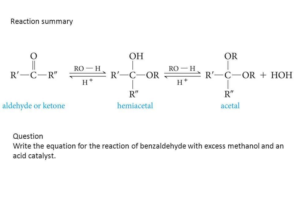 Reaction summary Question.