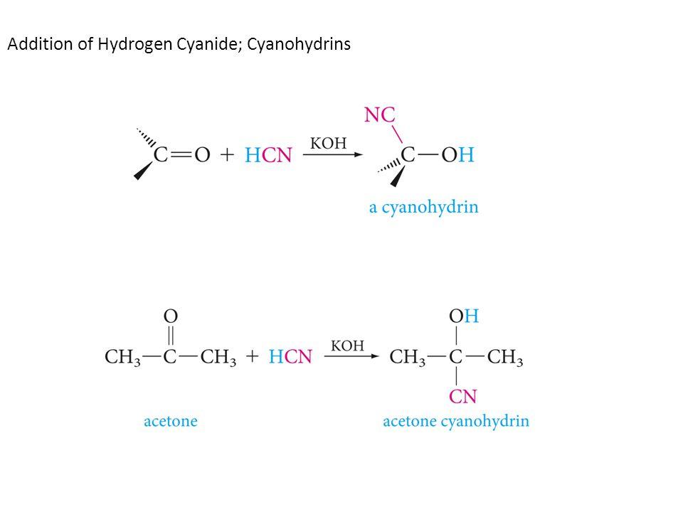 Addition of Hydrogen Cyanide; Cyanohydrins