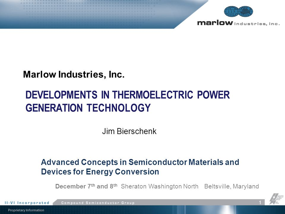 Developments in Thermoelectric Power Generation Technology
