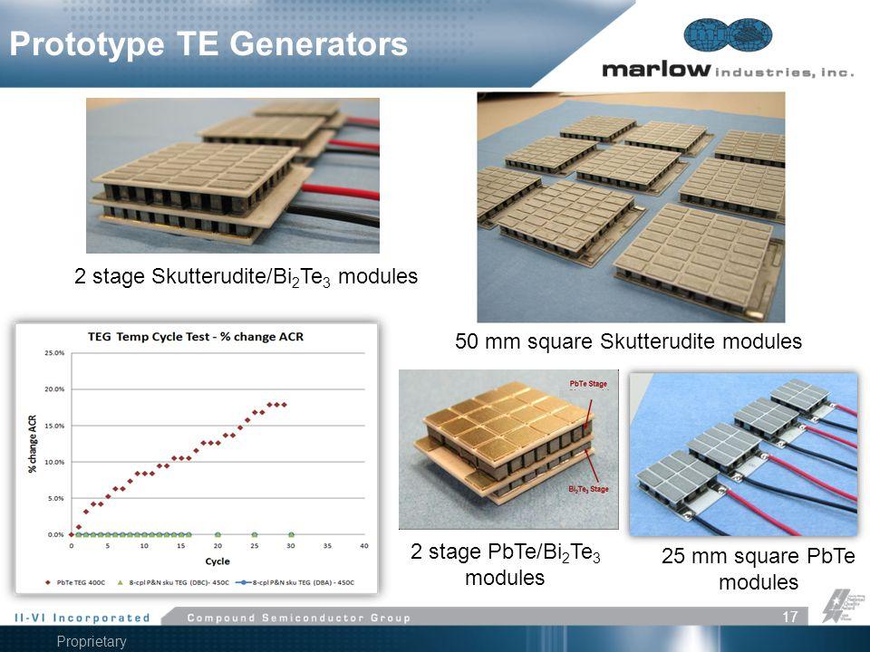 2 stage PbTe/Bi2Te3 modules