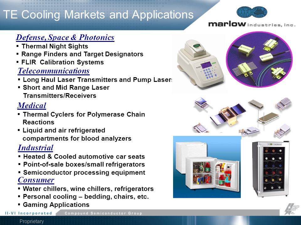 TE Cooling Markets and Applications
