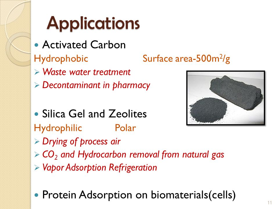 Applications Activated Carbon Silica Gel and Zeolites