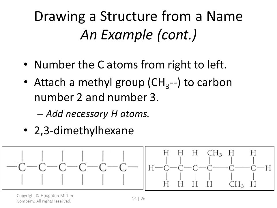 Drawing a Structure from a Name An Example (cont.)
