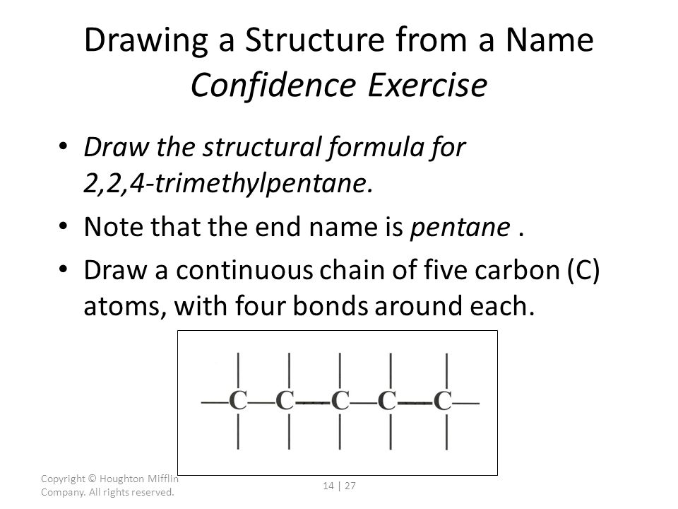 Drawing a Structure from a Name Confidence Exercise