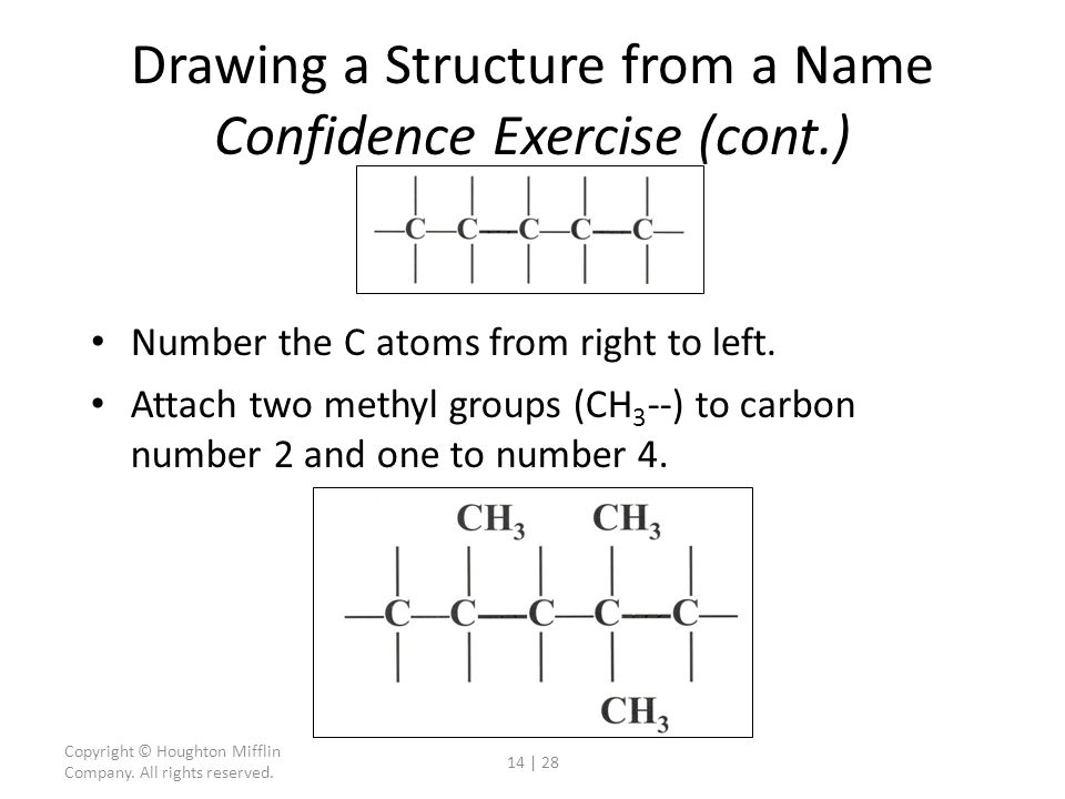 Drawing a Structure from a Name Confidence Exercise (cont.)