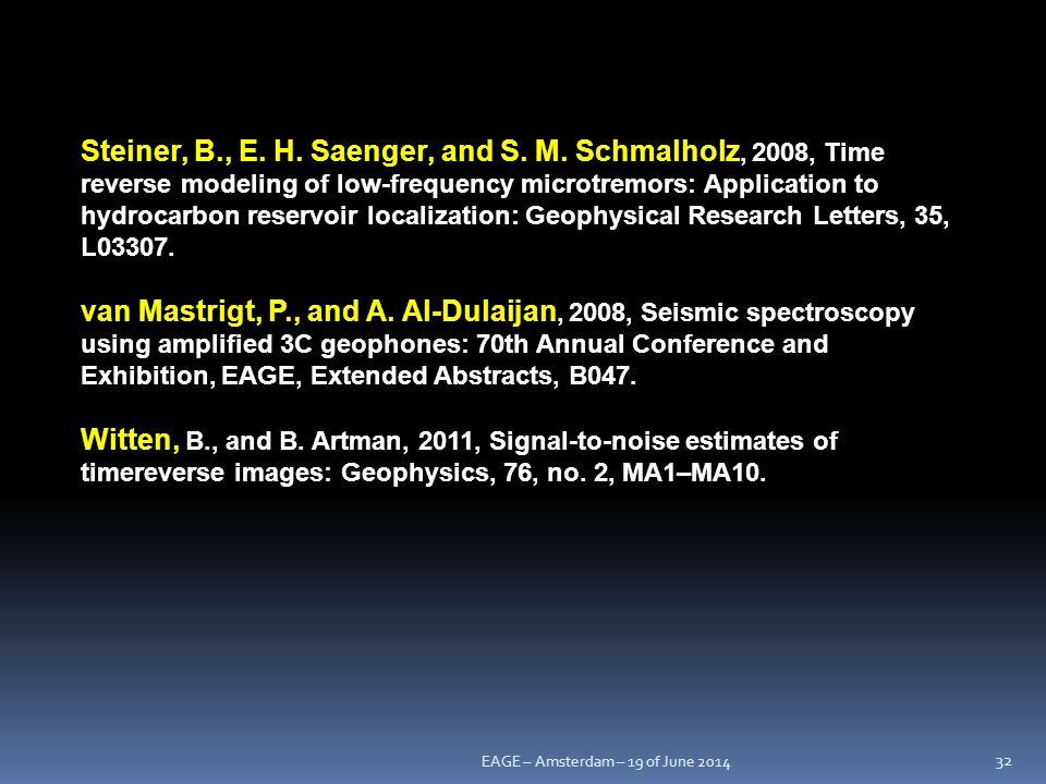 Steiner, B. , E. H. Saenger, and S. M