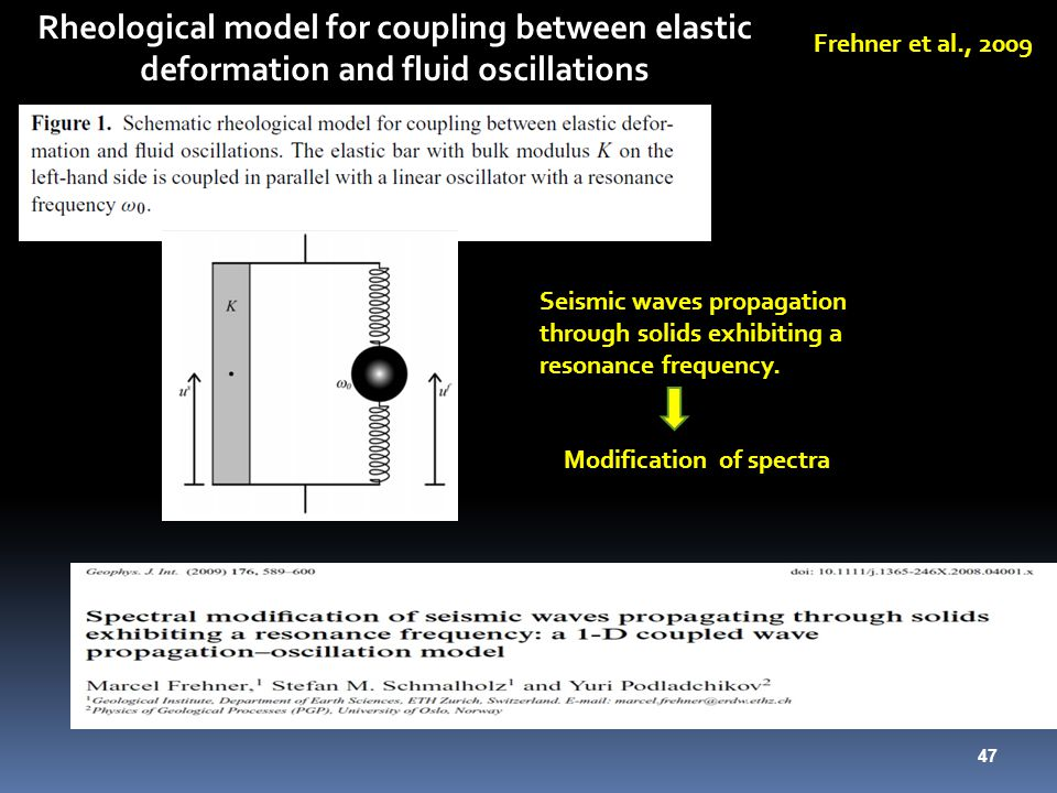 Rheological model for coupling between elastic deformation and fluid oscillations