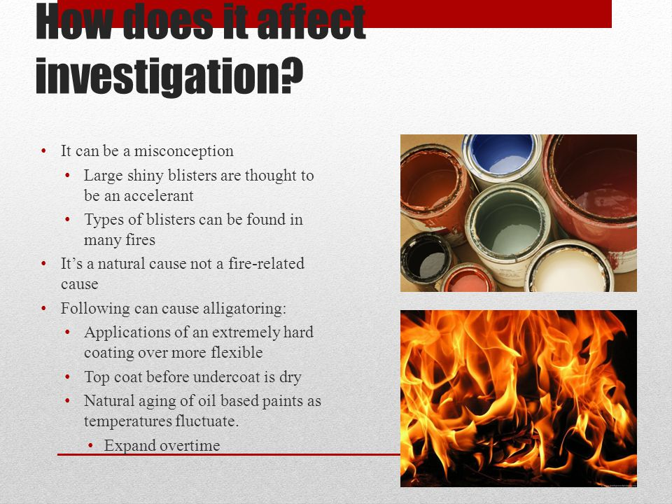 How does it affect investigation