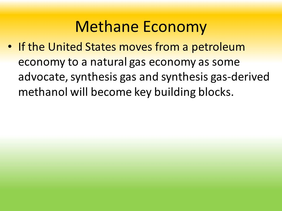 Methane Economy