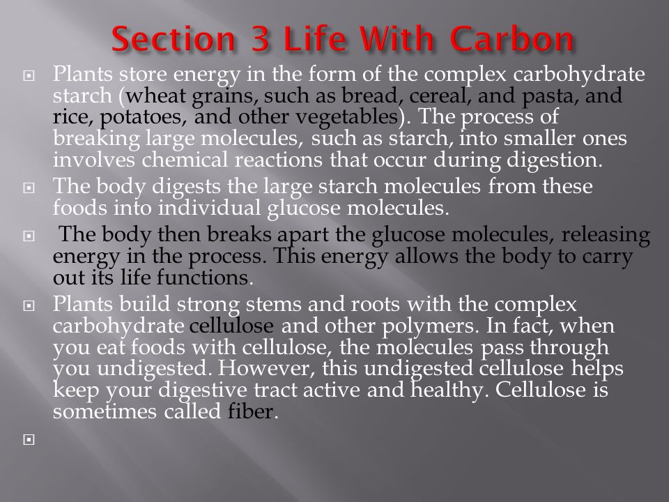 Section 3 Life With Carbon