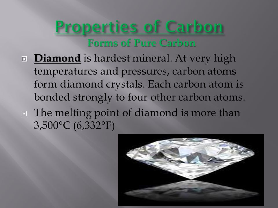 Properties of Carbon Forms of Pure Carbon